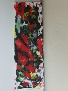 Wild-Rot-Schwarz-30x90cm